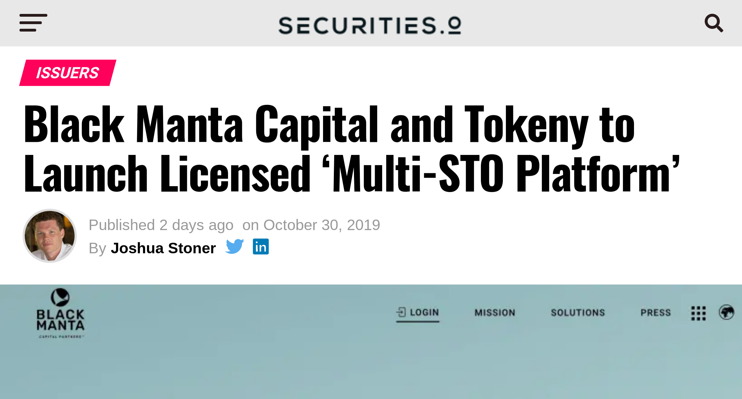 Media Coverage securities.io