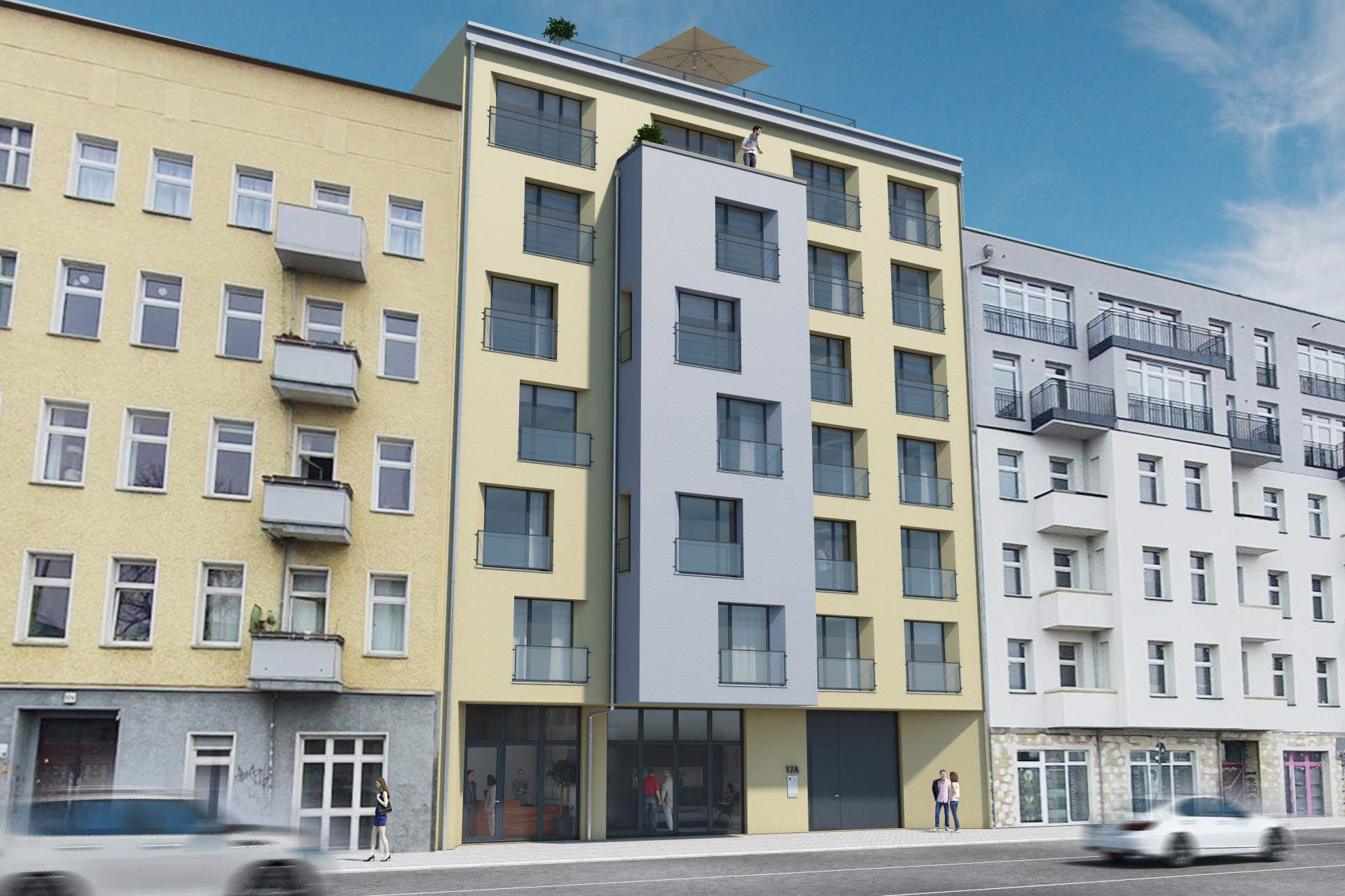 STRALAUER ALLEE 17A Front Rendering