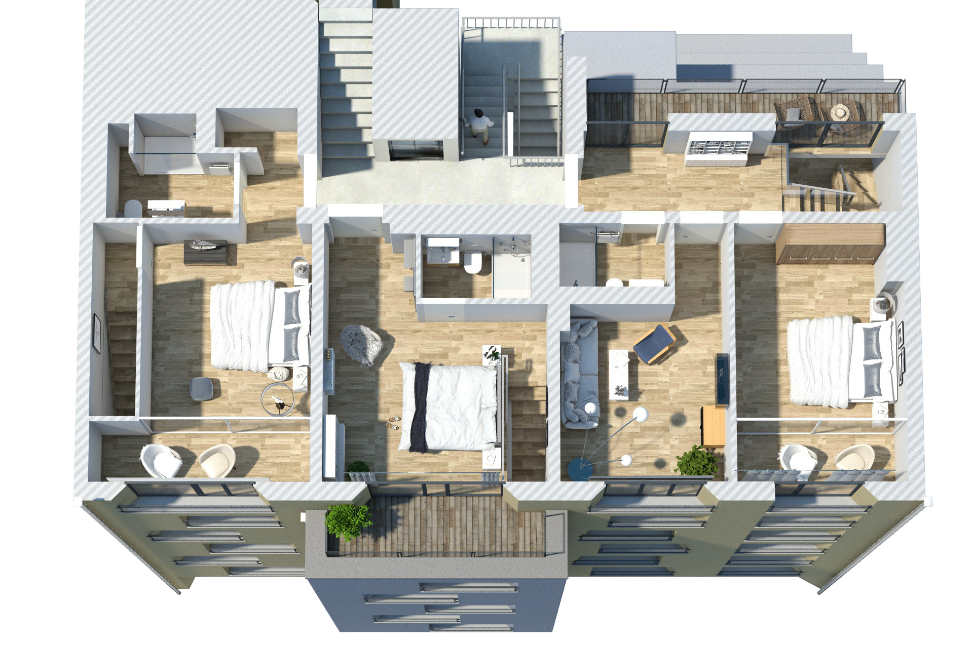 STRALAUER ALLEE 17A Floorplan Rendering